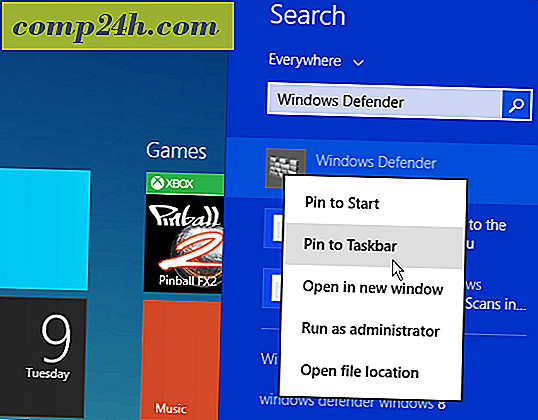Windows 8.1 Tips: Legg til Windows Defender i kontekstmenyen