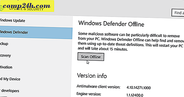 Windows 10 Defender til at tillade offline scanning for malware