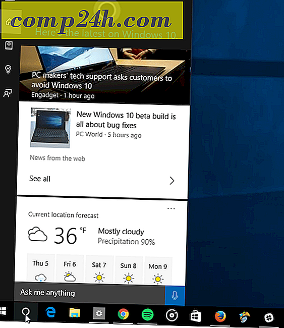 Hur man hanterar Cortana Info Cards i Windows 10