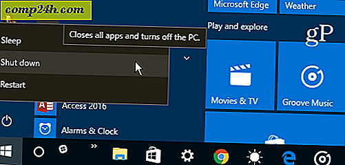 Windows 10 Shutdown, Restart, Hibernate og Sleep Roundup