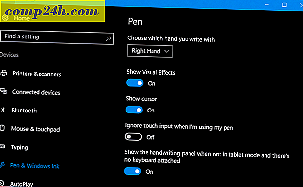 Pen Tips Integration med OneNote Mobile i Windows 10 årsdagen uppdatering