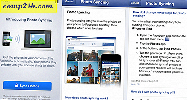 Brug Facebook Moments App til at administrere synkroniserede fotos