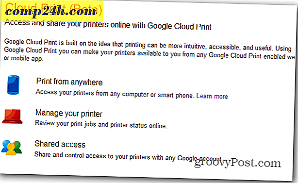 Skriv ut från Nexus 7 via Google Cloud Print