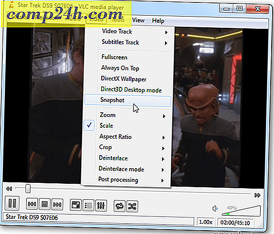 Tag Screen Snapshots i VLC Media Player