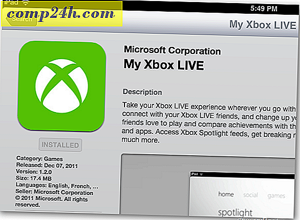 Min Xbox Live App til iPhone, iPad og iPod touch