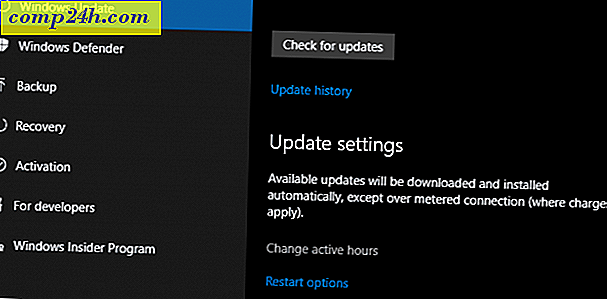 Så här hanterar du Windows Update med Active Hours Feature