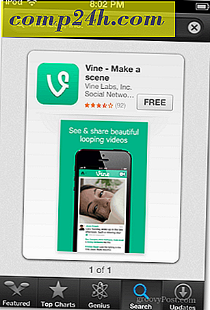 Send Micro-videoer til Twitter med Vine til iPhone eller iPod Touch