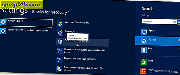 Så här skapar du en Windows 8 Recovery Flash Drive