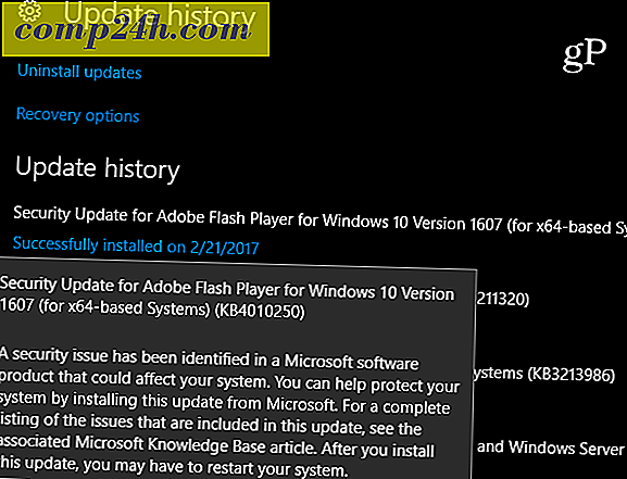 Microsoft Rolls Out Kritisk Adobe Flash Player Update KB4010250