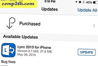 Microsoft-oppdateringer Lync for iPhone til 5.7.563