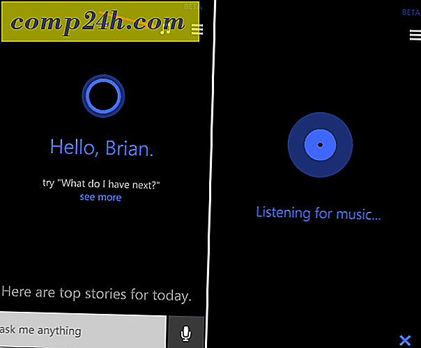 Brug Cortana på Windows Phone 8.1 til at identificere sange
