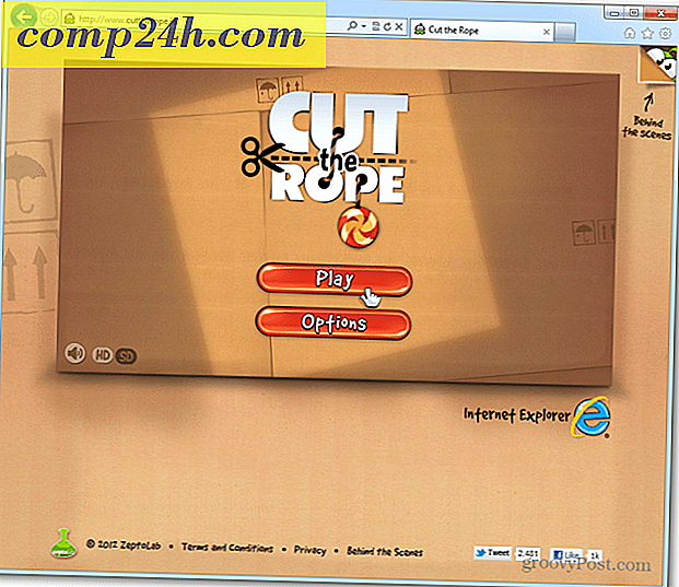 Speel de HTML5-webversie van Cut the Rope in IE 9