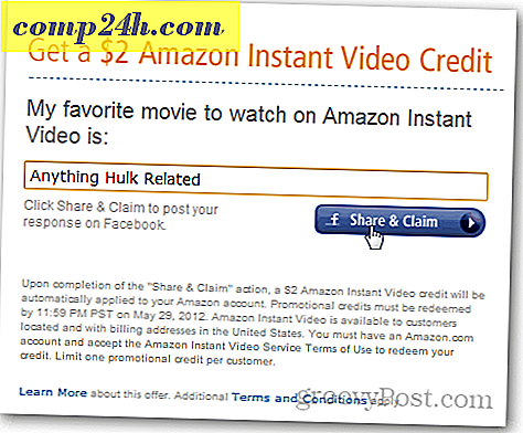 Amazon erbjuder $ 2 Instant Video Credit via Facebook