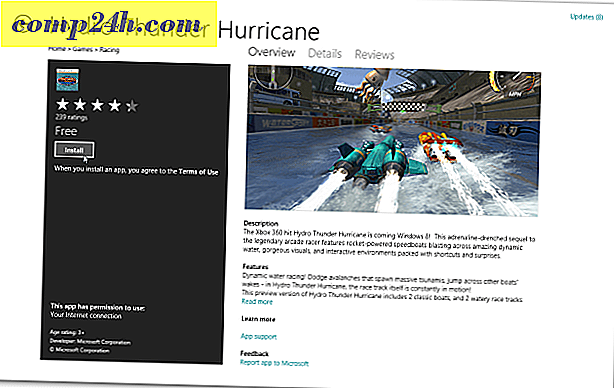 Gratis Windows 8 spil: Hydro Thunder Hurricane