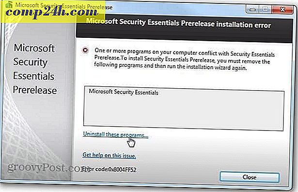 Microsoft Security Essentials Pre-Release-programma