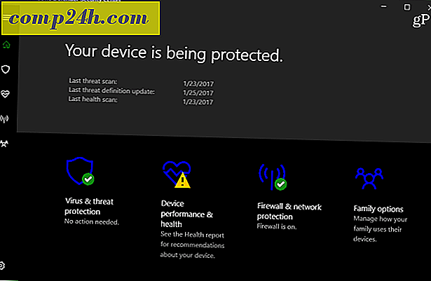 Windows 10 Creators frissítési szolgáltatás: Windows Defender Security Center