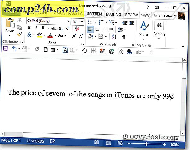 Sett Sent Symbolet I Microsoft Word Med Tastaturgenvei