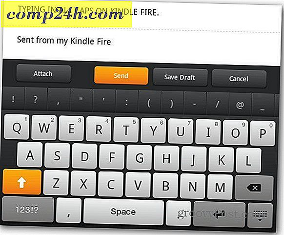 Access Kindle Fire Hidden Caps Lock Key