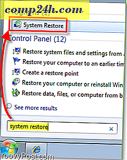 Løs Windows 7 med et systemgendannelsespunkt [How-To]